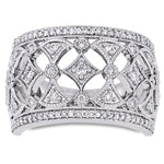 1/2 CT Diamond TW Fashion Ring 10k White Gold GH I2;I3