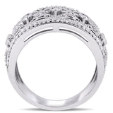 1/2 CT TW Diamond Filigree Ring in 10k White Gold