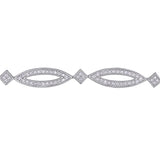 2 CT TW Diamond Geometric Link Bracelet in Sterling Silver