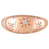 1/10 CT TW Diamond Matte Ring in 14k Rose Gold