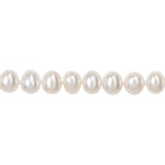 "18"" 6.5-7mm White Potato Pearl Necklace w/ Silver Fisheye Clasp"