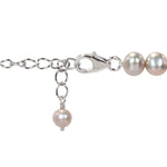 "17"" necklace of 6-6.5mm Silver Grey potato pearls with 925 lobster clasp & 2"" extender chain"