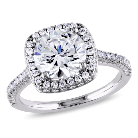 Silver 5ct TGW Cubic Zirconia Engagement Ring