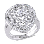Silver 1.42ct TGW Cubic Zirconia fashion Ring