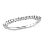 1/5 CT Diamond TW Anniversary Ring Silver I3
