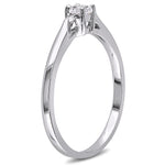 0.04 CT Diamond TW And 1/4 CT TGW Created White Sapphire Fashion Ring Silver GH I2;I3