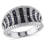 1/2 CT TW Black Diamond Pave Cocktail Ring in Sterling Silver with Black Rhodium
