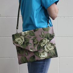 FLORAL ENVELOPE / LILAC-CREAM