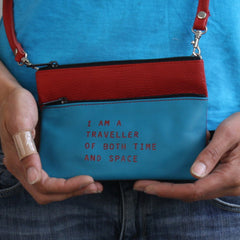 TURQUOISE/RED MINI CROSSBODY / TRAVELLER