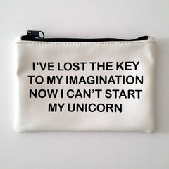 WHITE COINPURSE / UNICORN