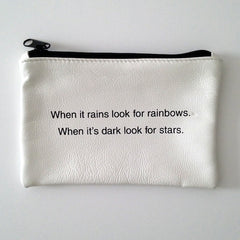 WHITE COINPURSE / RAINBOWS