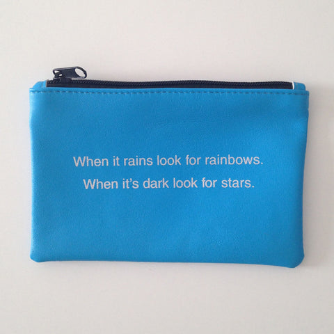 TURQUOISE COINPURSE / RAINBOWS