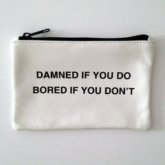 WHITE COINPURSE / DAMNED