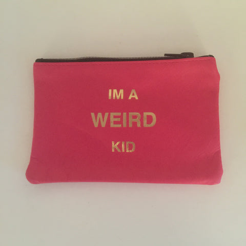 HOT PINK COINPURSE / Im a weird kid