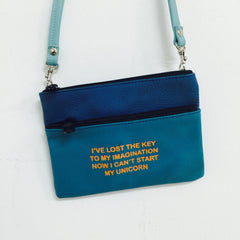 BLUE MINI CROSSBODY / UNICORN