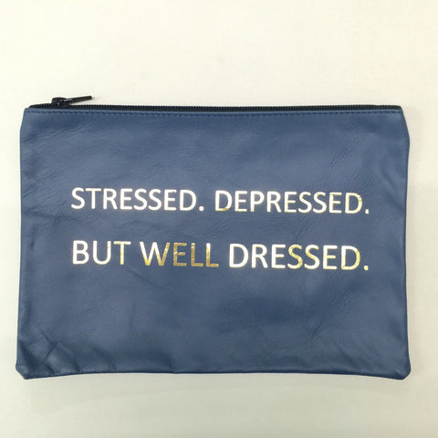 BLUE HANDHELD STRESSED