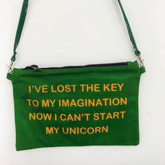 GREEN CROSSBODY / UNICORN