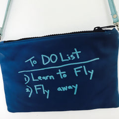 BLUE CROSSBODY / TO DO LIST