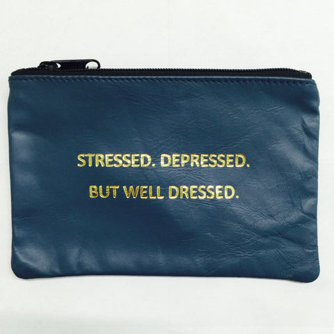 NAVY COINPURSE / STRESSED