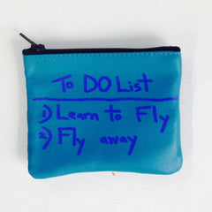 TURQUOISE  MINI-WALLET / TO DO LIST