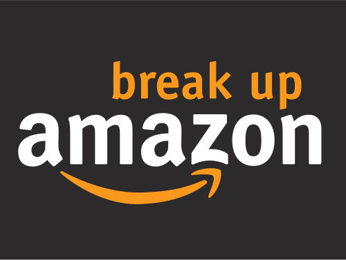 Break up Amazon Logo
