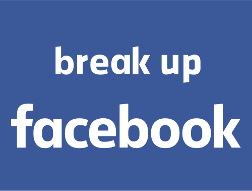 Break Up Facebook Logo
