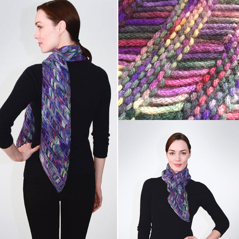 String Yarns Diagonal Kersti Scarf