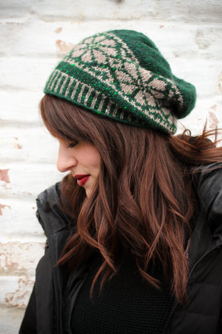 Nordic Fair Isle Slouch Hat KAL