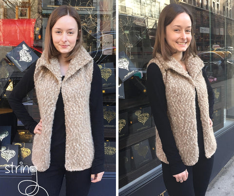 String Yarns Sherpa Vest
