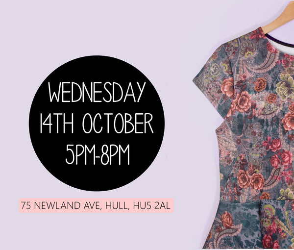 Wednesday 14th October 5pm-8pm. 75 Newland Avenue, Hull, HU5 2AL