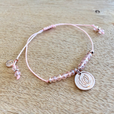 Rose Gold Rose Adjuster Bracelet