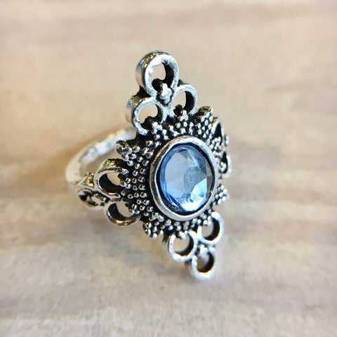 Ice Blue Jewel Ring