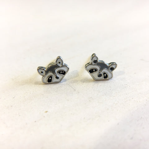Rocky Raccoon Earrings