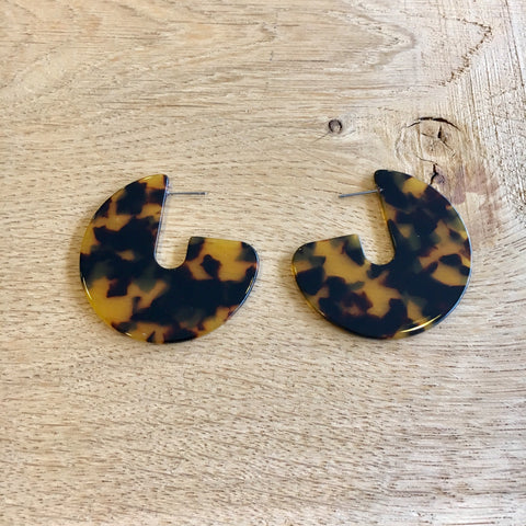 Tortoiseshell Acrylic Earrings