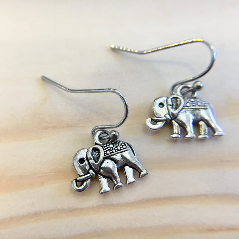 Indian Elephant Drop Earrings
