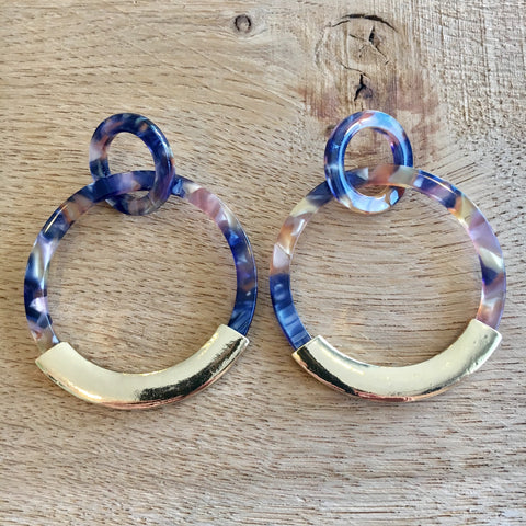 Sunset Acrylic Circle Drop Earrings