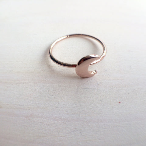 Rose Gold Moon Ring