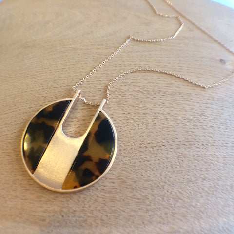 Tortoise Shell Long Necklace