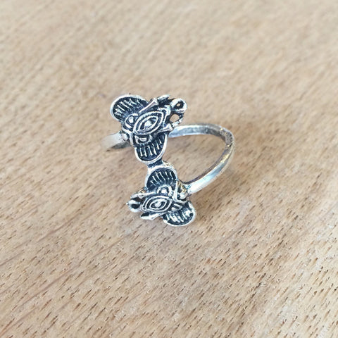 Two Elephants Wrap Ring