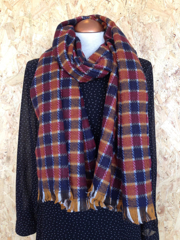Rustic Check Scarf
