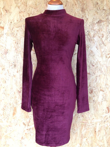 Plum Velvet Bodycon Dress