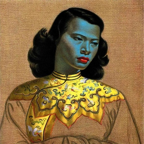 Tretchikoff's Green Lady Painting Workshop // 4th March 2020