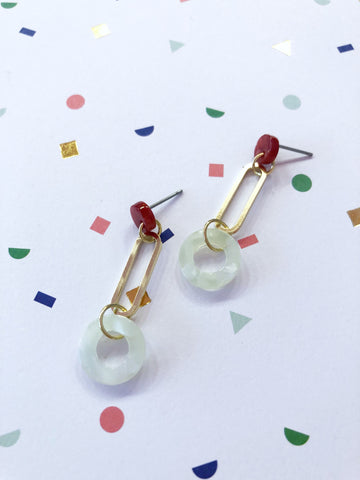 Berries and Mints Earrings
