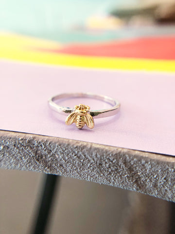 Two Tone Bee Ring