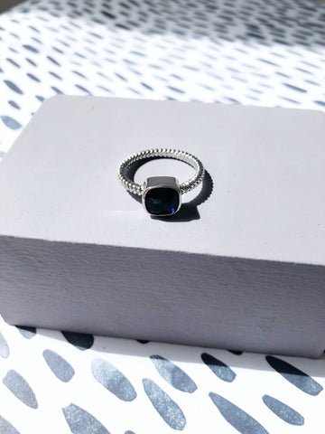 Midnight Blue Jewel Ring