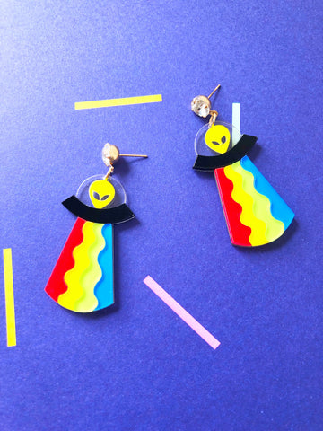 Jazzy Aliens Earrings