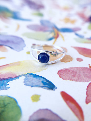 Navy Stone Eye Ring
