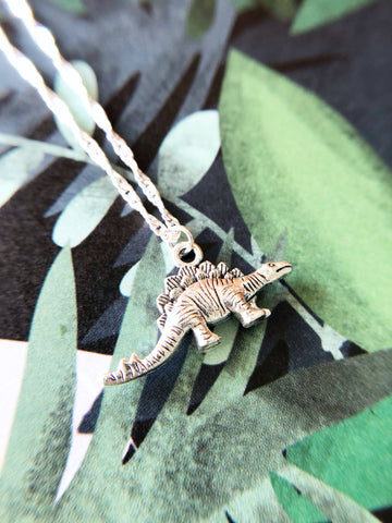 Silly Stegosaurus Necklace