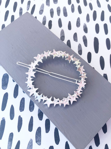 Silver Star Wreath Hairclip