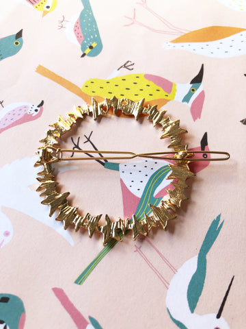 Gold Star Wreath Hair Clip